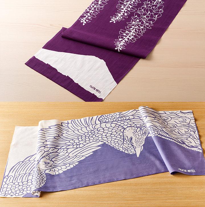 手ぬぐい2種セット(富士山と藤・鳳凰)